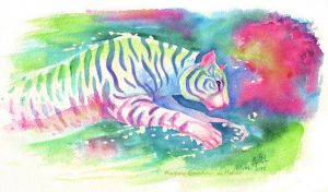 Jumping Tiger by MorganeDeMatons