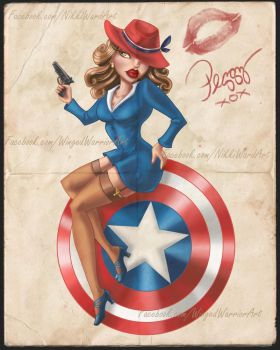 Agent Carter Pin-up by Winged-warrior