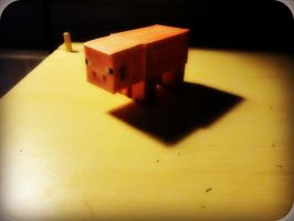 All Alone PaperCraft Pig by XRallemangafreak