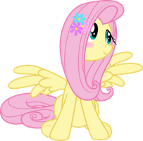 Blushing Fluttershy - Filly Vanilli by Vulthuryol00