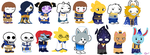 Homestuck: Outertale AU Sprites by DogBurgerz