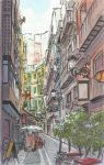 Street in Valencia, Spain Watercolor... by ssava