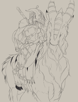 A Noble Steed, WIP by torispencer