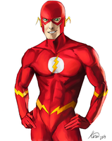 Wally West - The Flash by kiraoka