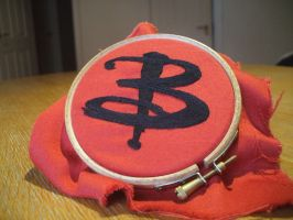 Stitched Buffy symbol by Scarygothgirl