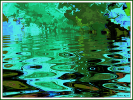 Broadditch Pond -The  Lily Pads by Nigel-Hirst