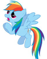 Rainbow Dash Vector by Tiftyful