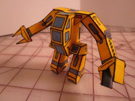 Papercraft Heavy Lifting Mech by enc86