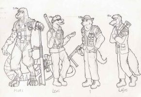 Rebel characters in comic row3 by SteinWill