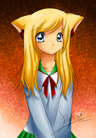 .:Cat girl~New Coloration:. by Echoflood
