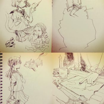4 sketches 20170607 by lita426t