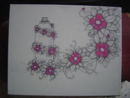 Spray Can Flowers Canvas by squiffythewombat