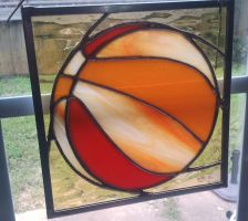 Stained glass basketball by CurlyCrocus
