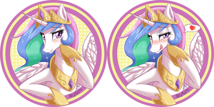 Princess Celestia`s Badge by SkyKain