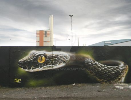 Snake Wall by -sagie-