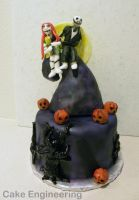 Nightmare Before Christmas cake by cake-engineering