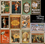 Antique Theatre Posters Set 1 by MissPennyFarthing