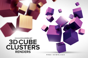 Free 3D Cube Clusters by DesignerCandies
