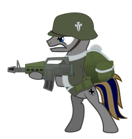 Germane Soldier by BRONYVAGINEER