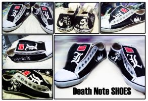 DEATH NOTE THEMED SHOES by stevengico