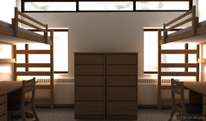 RIT Dorm Room 3D by brimu