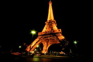 Eiffel Tower at Night 1 by DrHamster