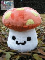 MS Orange Mushroom PLushie by LiLMoon