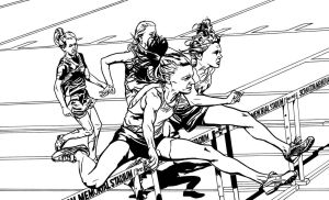 Girls' Hurdles Ink by Maxahiss
