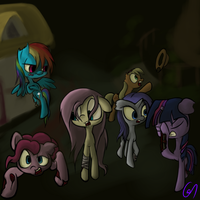 Mane 6 - zombies by Greeny-Nyte