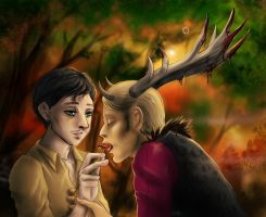 Hannibal - Feeding the Wendigo by FuriarossaAndMimma