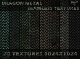 Dragon metal scales seamless textures by jojo-ojoj