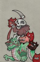 Death and his Evil Little Pig by J-Works