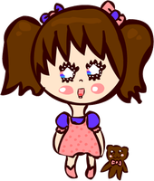 Kawaii Happy Little Girl Chibi by Faery-Rainbow