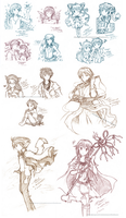 13 free sketches by aragorn1014