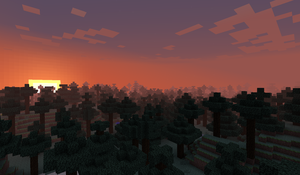 Minecraftia Sunsets by Thelightforest