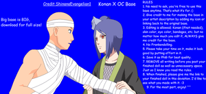 Konan X OC Base by ShinanaEvangelian1
