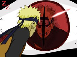 Naruto stare's by Salty-art