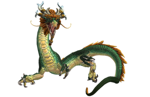 SMITE Renders - Ao Kuang Primary (Dragon) by Kaiology