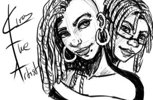 Leah And Teri Sketch by KiraTheArtist