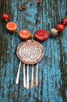 The Tamed Sun bohemian necklace by Bohemi-enne