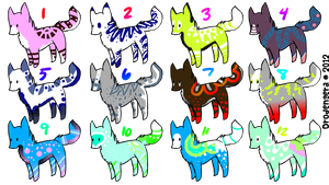 Canine Adopt Sheet (4 Points!) (Closed!) by Firestar999