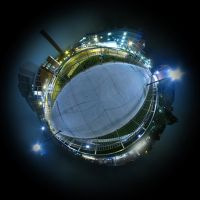 Mini Planet - Ann Arbor Night by electricjonny