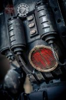 The Panzersoeldner - light up dieselpunk backpack by TwoHornsUnited