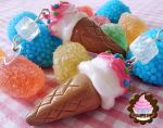delish ice cream earrings by OrdinaryThing