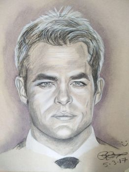 Chris Pine Sketch by Gareth-Jenkinson-Art