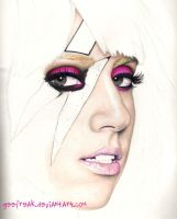 Lady Gaga: Portrait WIP by GeeFreak