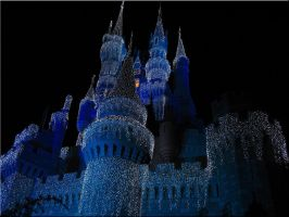 Christmas Castle Wallpaper 2 by WDWParksGal-Stock