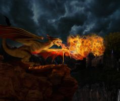 Dragon's Flame by badiu27