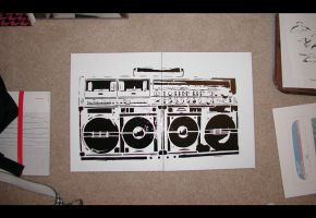 Boombox Split Single Layer by truemarmalade