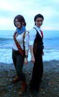 Drake and Talbot by the sea... by LadyofRohan87